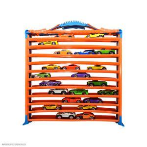Hot Wheels Pista Y Rack Guarda Autos Hwcc9