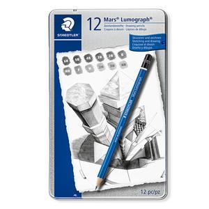 Lapiz Grafito Lumograph X12 Hard Staedtler