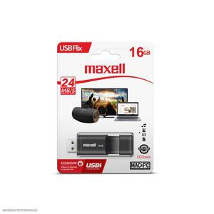 Memoria Usb 16Gb Maxell Flix Gris