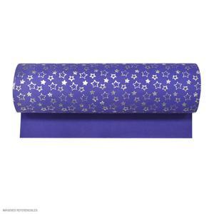 Microporoso Escarchado Azul Con Diseño Estrellas