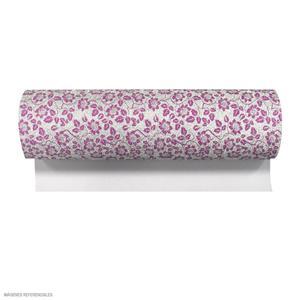 Microporoso Escarchado Lila Con Diseño Floreado