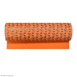 Microporoso Escarchado Naranja Con Diseño