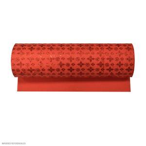Microporoso Escarchado Rojo Con Diseño