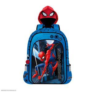 Mochila Spiderman Capucha Azul (Artesco)