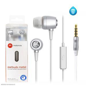 Motorola Audífono Intrauditivo Con Micrófono Earbuds Metal Plata