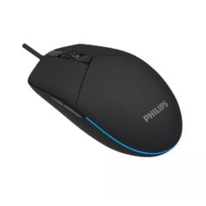 Mouse Gaming 6 Botones Negro Spk9304 Philips