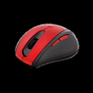Mouse Óptico Inalambrico Con 5 Botones Klipxtreme - Rojo