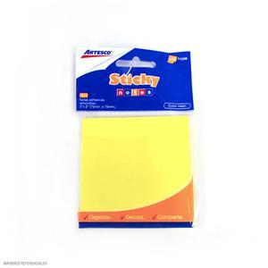 Notas Adh 3X3 Amarillo Pastel 100H 654