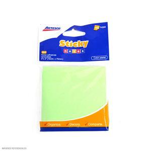 Notas Adh 3X3 Verde Pastel 100H Artesco