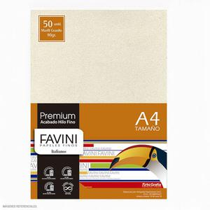 Papel 90G A-4 Premium Marfil Granito (Pack X 50)