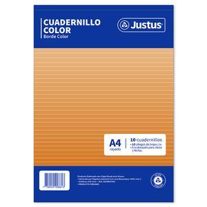 Papel A4 Rayado Color Justus Pqtx100