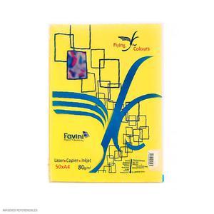 Papel Arco Iris A4 Plus Amarillo