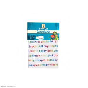 Papel Seda Decorado Happy Birthday X 3