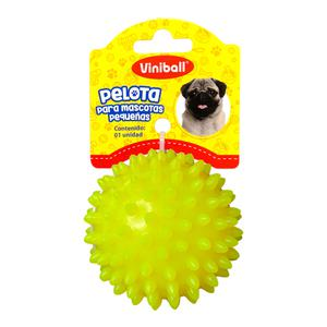 Pelota Para Mascota Peque Amarillo Neon