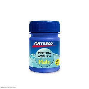 Pintura Acrilica Mate 30Ml Azul Artesco