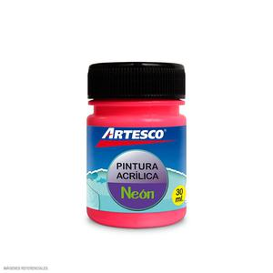 Pintura Acrilica Mate Neon 30Ml Rosa Artesco