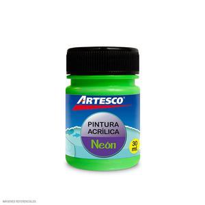 Pintura Acrilica Mate Neon 30Ml Verde Artesco