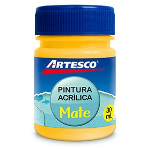 Pintura Acrílica Mate 30Ml Amarillo Artesco