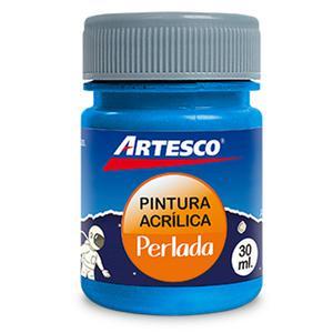 Pintura Acrilica Perlada 30Ml Azul Artesco