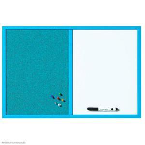Pizarra Mixta (Corcho Y Acrílico) Azul