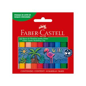 Plastilina X 10 Jumbo Escarchada Faber Castell