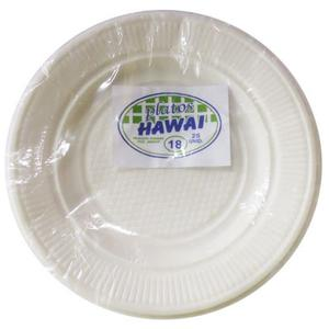 Plato Descartable Blanco N18 X 25Und Hawai
