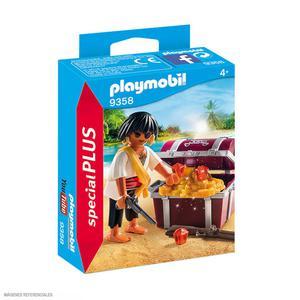Playmobil Pirata Con Cofre 9358