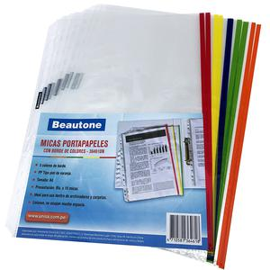 Portapapel A4 Colores Beautone Pqt X10