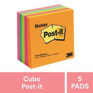 Post It 3X 3'' Cubo Color  X 375 Hojas