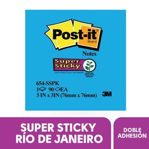 Post It 3X 3'' X 90H Azul Rio/Neon