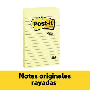 Post It 4X 6''N 660 X 100H Rayado Amarillo 3M