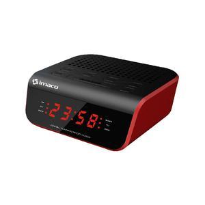 Radio Reloj Despertador Rojo