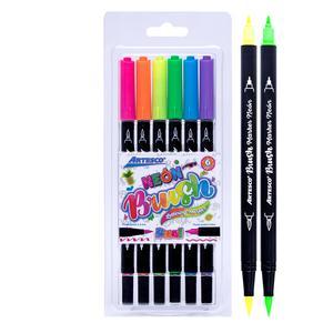 Rotulador Dual Brush X6 Neon Artesco
