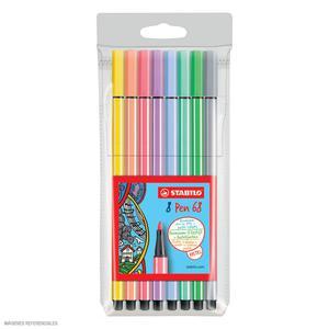 Rotulador Pen 68 Estx8 Pastel Stabilo