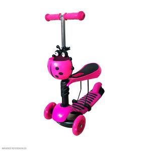 Scooter Kids 3 En 1 3R Rosa