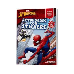 Spiderman Actividades Con Sticker