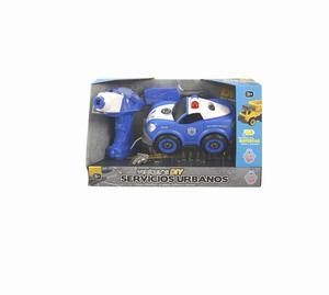 Vehiculos Diy Policia C /Son Lm8021-Dz-1